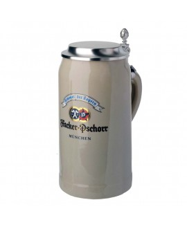 Hacker-Pschorr Stone Mug with tin lid 1,0l
