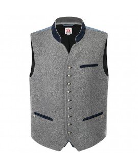 Hacker-Pschorr Vest grey / darkblue